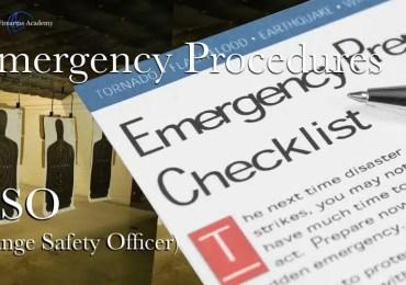 Emergency Procedures RSO (Range Safety Officer)