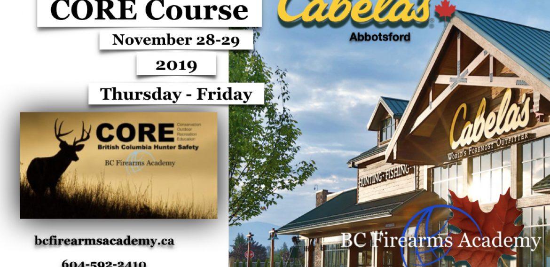 CORE Course Thursday-Friday Nov 28-29 2019