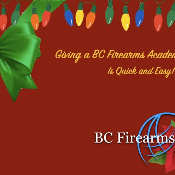 Giving a BC Firearms Academy Gift Card is Quick and Easy!