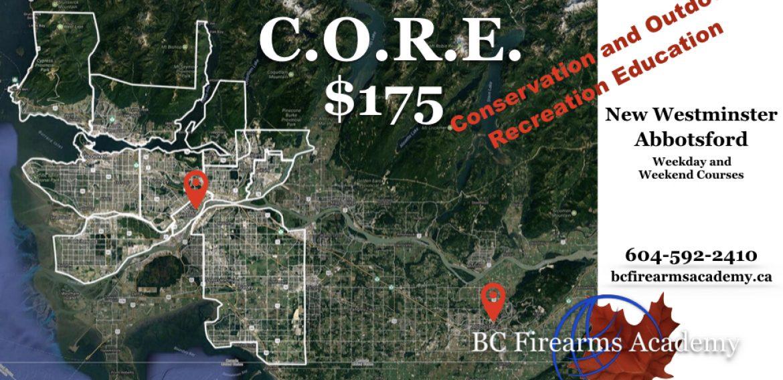 C.O.R.E. Courses with BC Firearms Academy $175