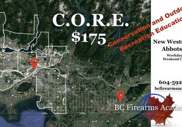 C.O.R.E. Courses with BC Firearms Academy $175