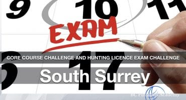 CORE Hunting License Exam Challenge – South Surrey 4 pm to 7 pm.
