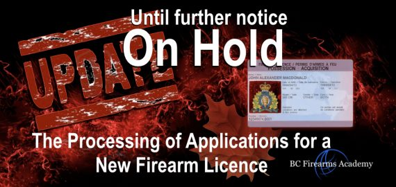 Processing of new firearm licence is on hold until further notice (COVID-19) 2020