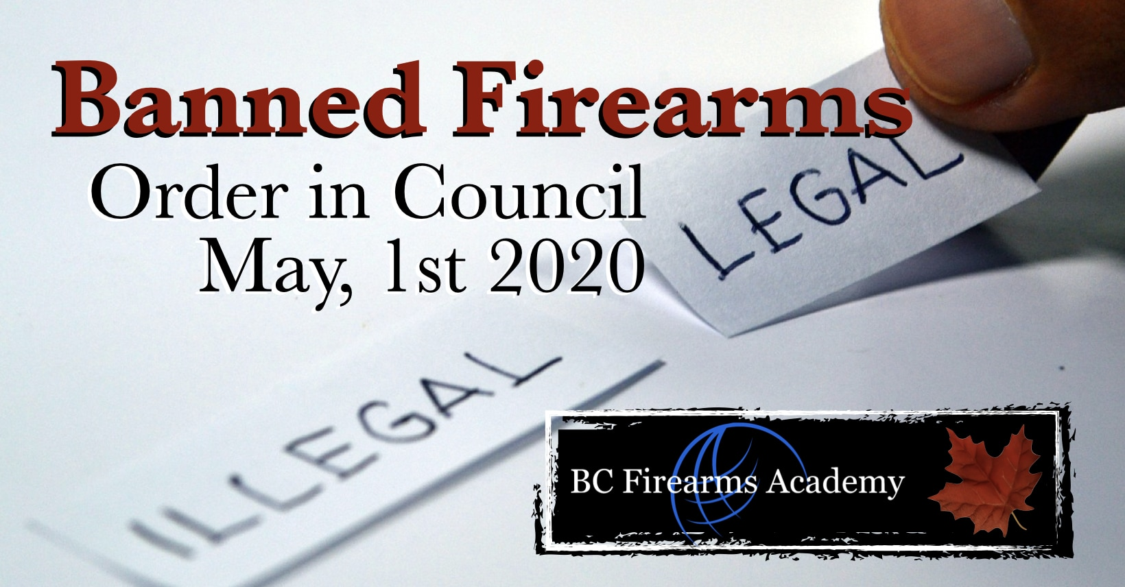 List Of Banned Firearms In Canada May 1 2020 Bc Firearms Academy