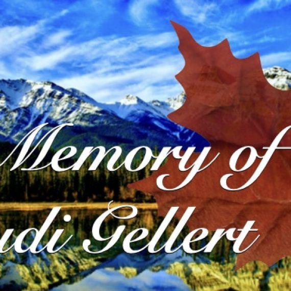 In Memory of Rudi Gellert