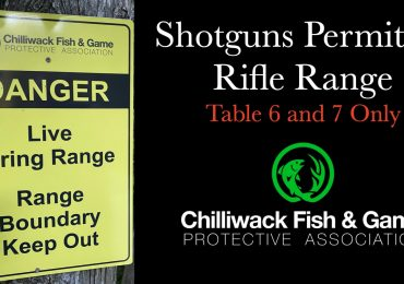Shotguns Now Permitted on Rifle Range Table 6 & 7 August 28, 2020