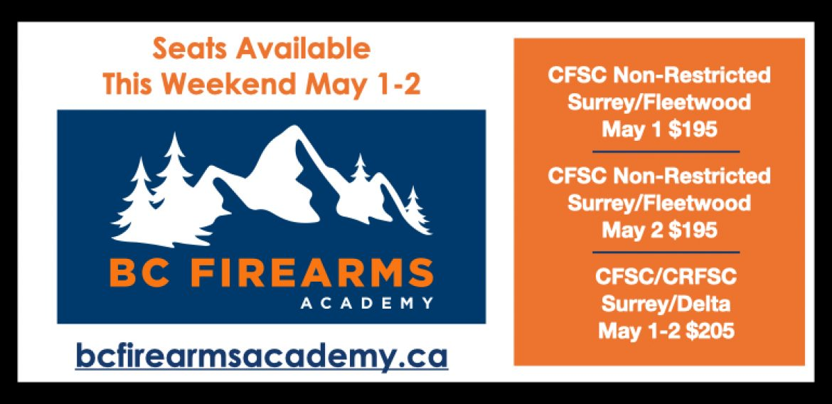 Seats Available This Weekend! May 1-2
