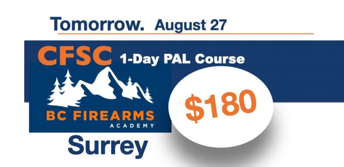 1-DAY PAL Course Friday August 27