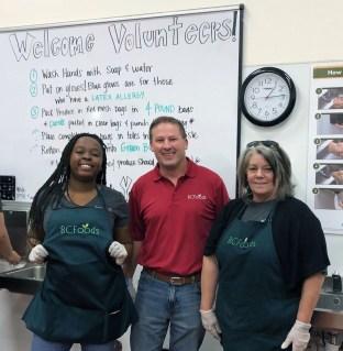 BCFoods volunteering at local food bank
