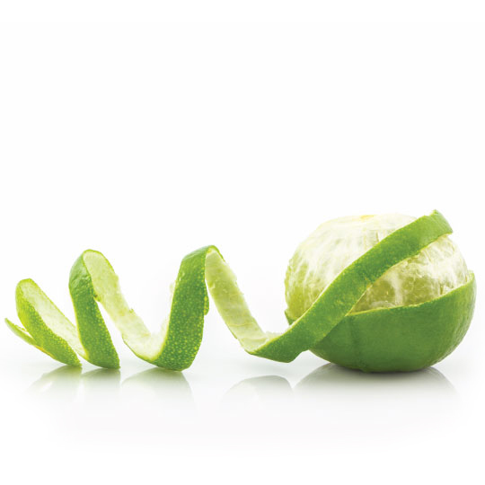Lime for dried citrus peel ingredients