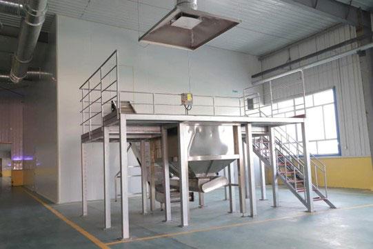 dumper, shaker BCFoods Hebei, China dehydration facility