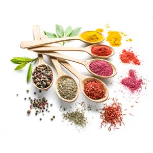 Select herbs and spices
