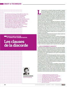 2020 - Article - Jean-Michel BONZOM - La Tribune de l'assurance - Les clauses de la discorde - Juin 2020