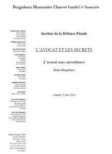 L'avocat et les secrets