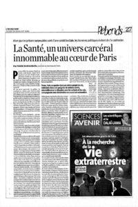 2005 - Article - Marie Burguburu - « La Santé, un univers carcéral innommable au cœur de Paris » - Libération
