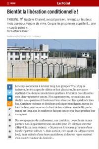 2020 - Tribune - Gustave Charvet - « Bientôt la libération conditionnelle ! » - Le Point