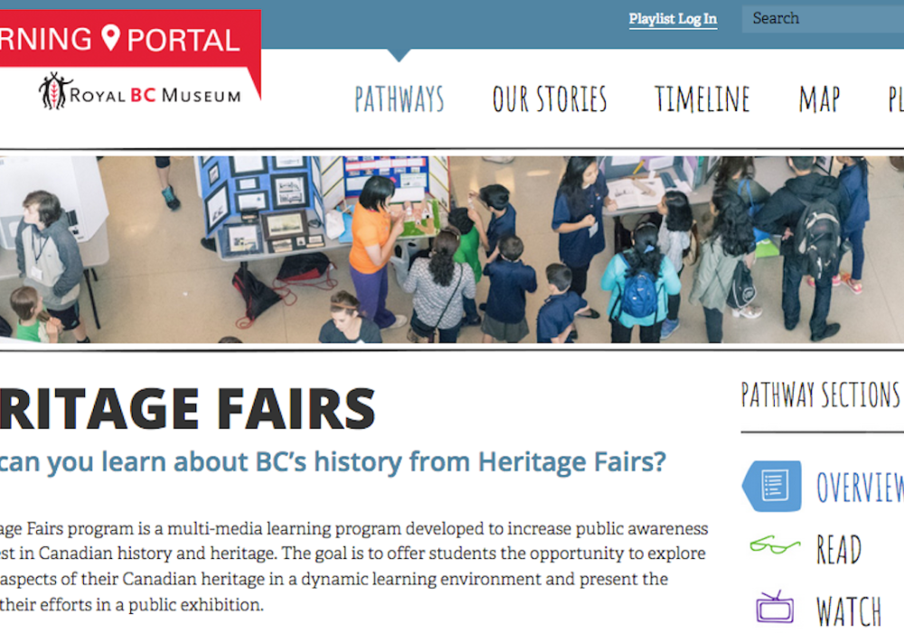 The RBCM Clears a Pathway for Heritage Fairs