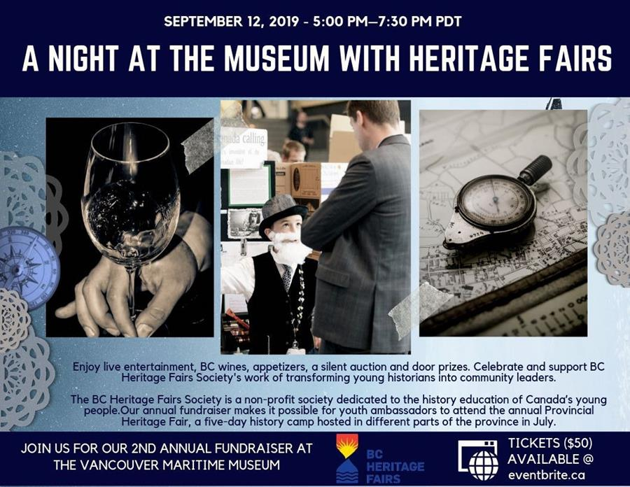 Your Invitation to our Heritage Fairs Fundraiser