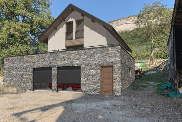 Maison avec parement en pierre en Savoie