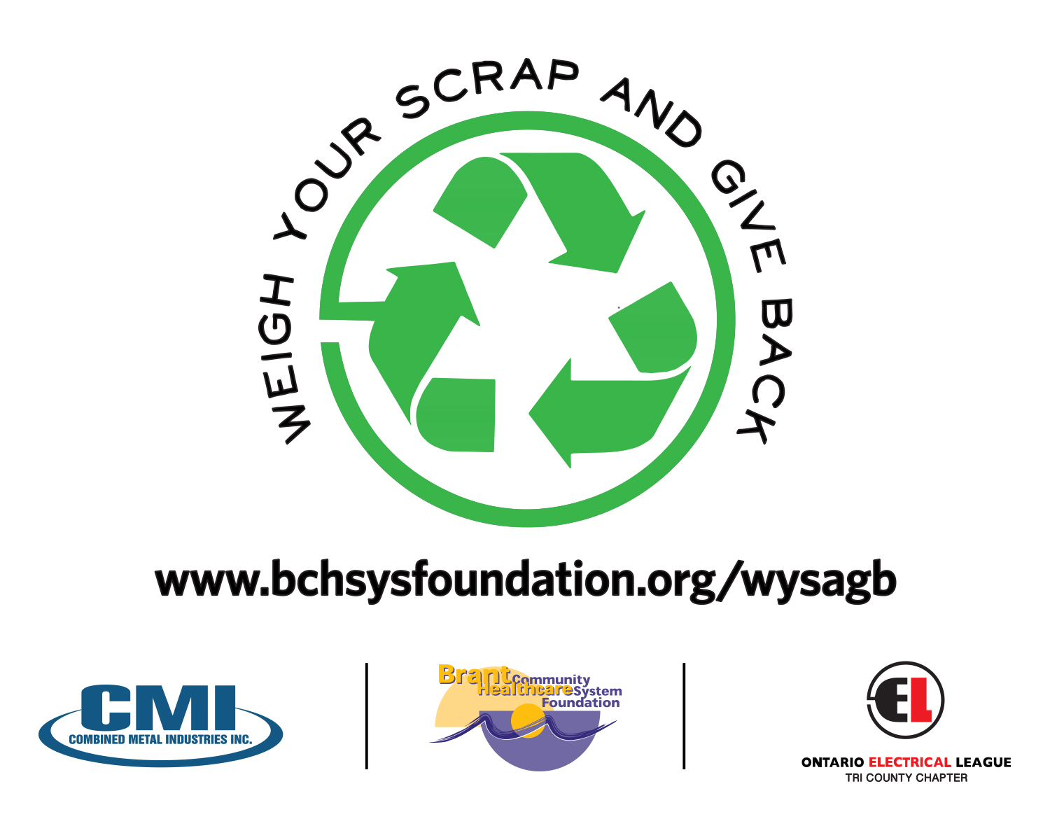 Weigh your scrap and give back supports local healthcare for 200 terrace hill st brantford