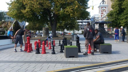 Playing Chess in Cathedral Square.
