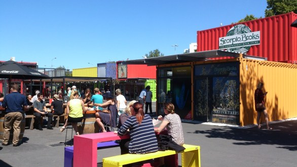 Re:Start Mall, made with shipping containers.