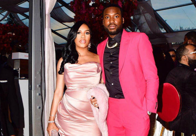 MEEK MILL AND GIRLFRIEND MILAN HARRIS WELCOME THEIR SON ON RAPPER'S BIRTHDAY