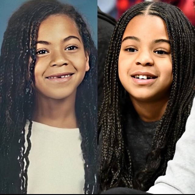 beyonce and blue ivy look like twins in