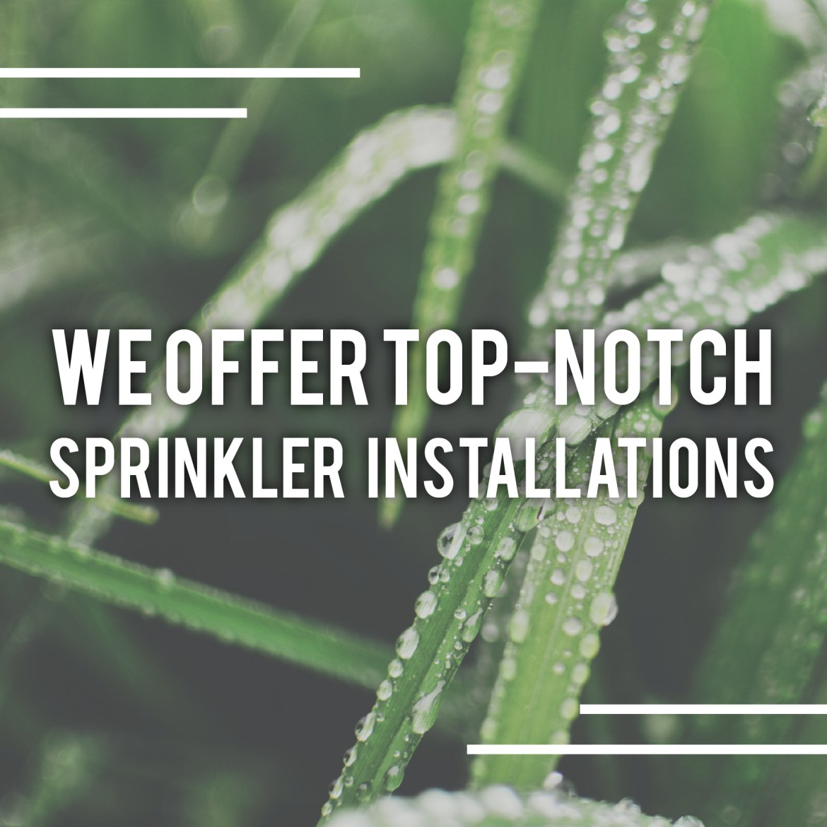 Contact us to get an estimate for a free sprinkler installation