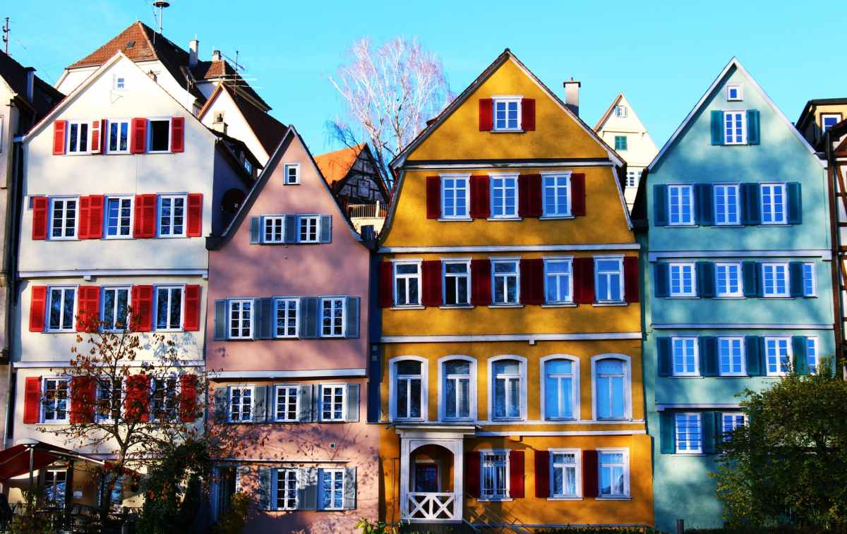 apartment architecture city colorful