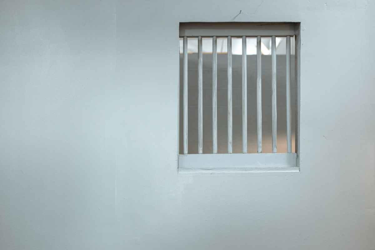 white window blinds on window