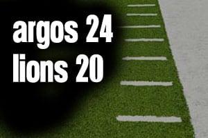 Argos 24 Lions 20