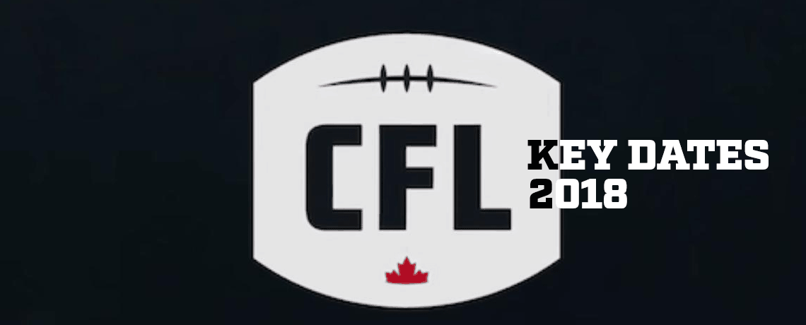 Key CFL Dates in 2018