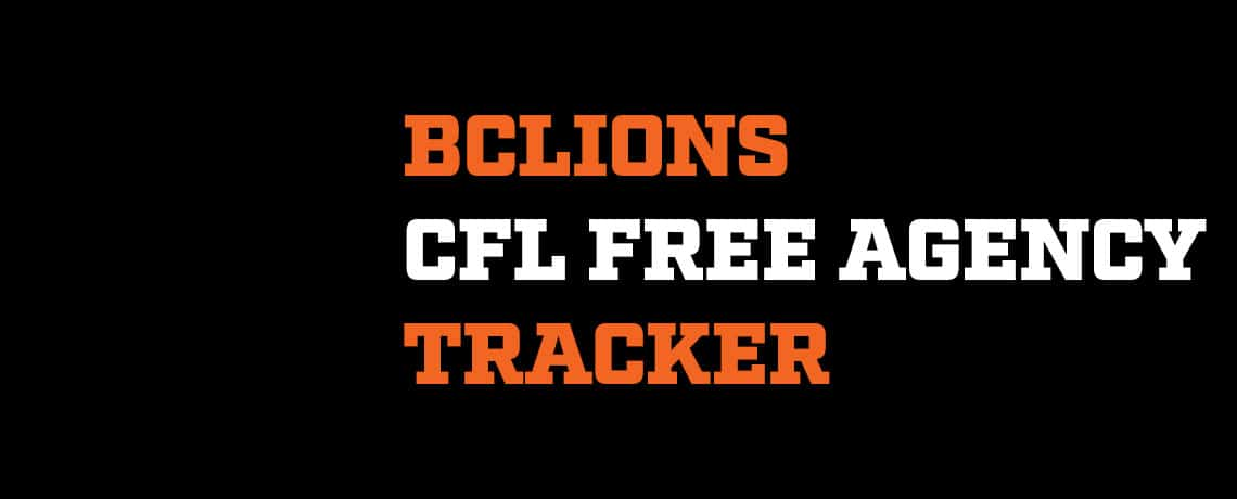 BC Lions CFL Free Agency Blog