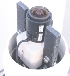 Top View of StarLight B/W CCD Camera, Dome Off