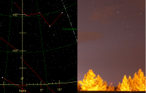 Starmap and Photo side-by-side