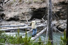 Crossing a Log across the Middle White R