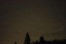 Geminid Meteors Towards North and Big Dipper