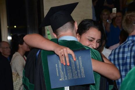 Happy graduates and family
