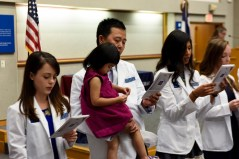Reciting an oath with the next generation of physician assistants, perhaps?