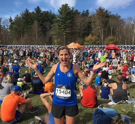 Sarah Bradley at the Boston Marathon!