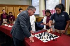 Klotman and Ryan student play chess