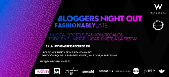 blogger night out barcelona hotel w