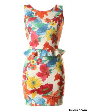 LOVE Millie Print Peplum Scuba Dress