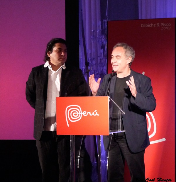 Ferran Adrià y Gaston Acurio presentado la Cebiche & Pisco Party
