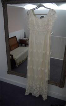 vestido encaje crema otaduy