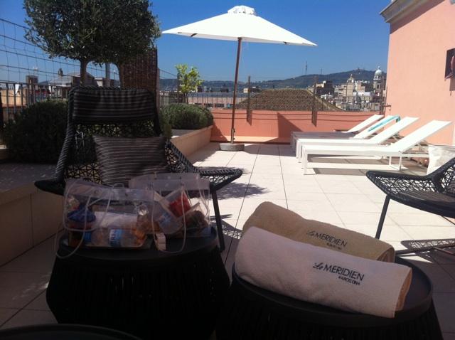 sunbathing lunch hotel le meridien