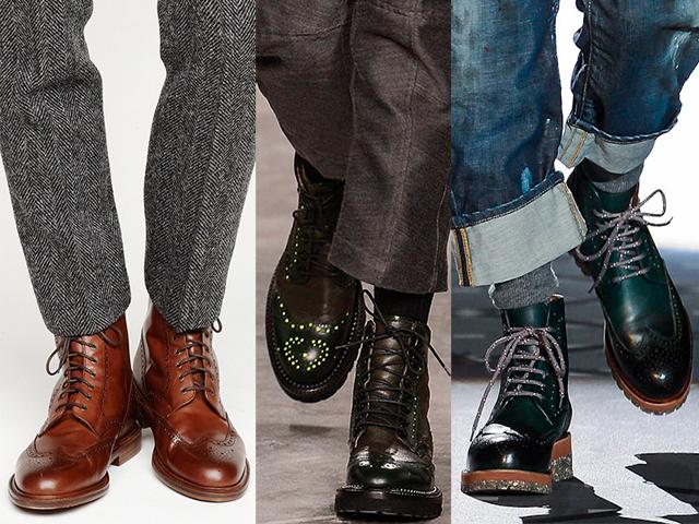 moda zapatos hombre BOTAS BROGUE