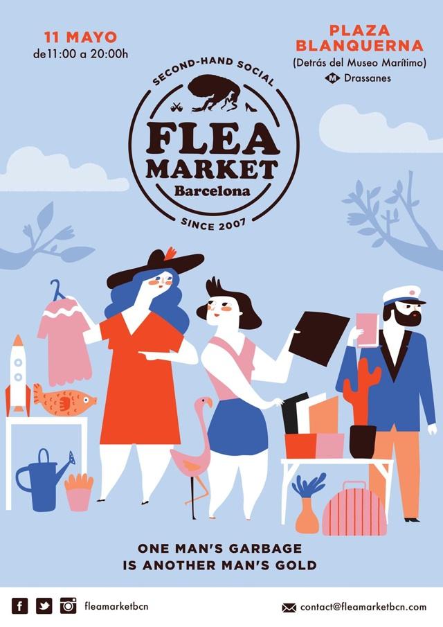 flea market mercadillos de mayo en barcelona