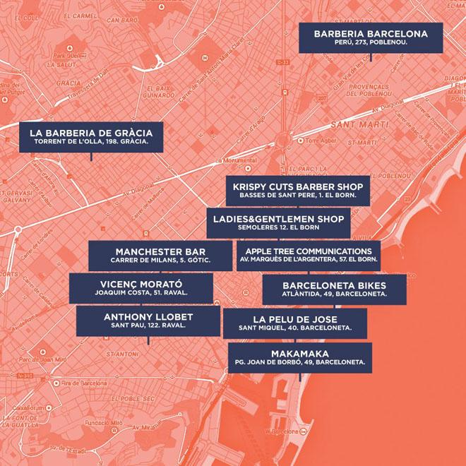 movember Barcelona mapa locales